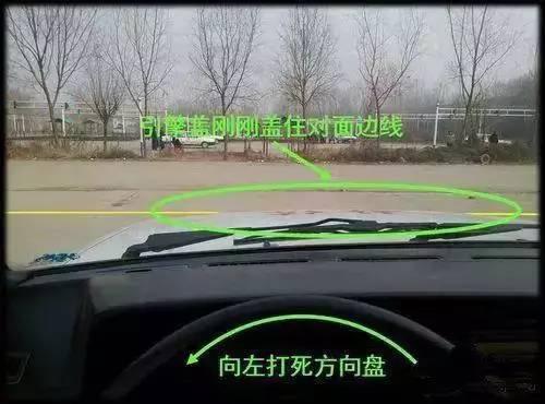 科目二 科目二考試:倒車入庫技巧詳細圖解  掛一檔,帶正車頭,直線出庫圖片