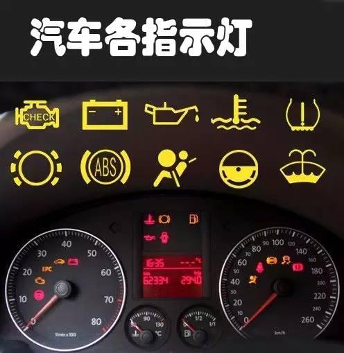 安全驾驶决不能忽视仪表各种亮灯提示_开车技巧_驾考